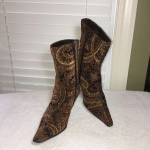 Predictions Paisley fabric boots